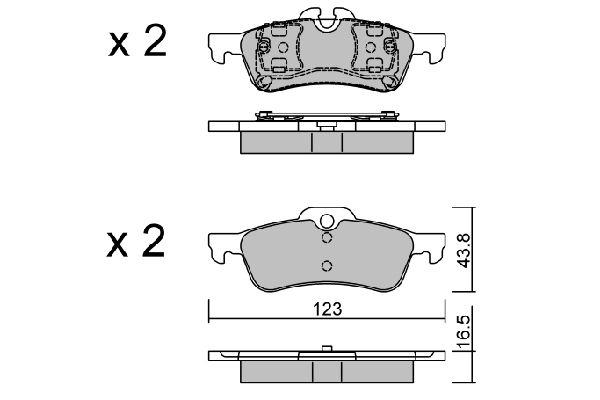 Bremsbeläge AISIN BPMB-2001
