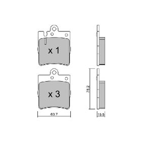 BPMB-2003 Bremsbelagsatz AISIN - Markenprodukte billig