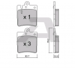 Bremsbelagsatz, Scheibenbremse BPMB-2003 — aktuelle Top OE A 003 420 28 20 Ersatzteile-Angebote