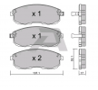 Bremsbelagsatz, Scheibenbremse BPNI-1910 — aktuelle Top OE 41060-55F90 Ersatzteile-Angebote