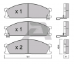 Bremsbelagsatz, Scheibenbremse BPNI-1912 — aktuelle Top OE 41060-32G91 Ersatzteile-Angebote