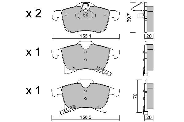 Bremsbelagsatz AISIN BPOP-1002