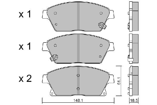 Bremsklötze AISIN BPOP-1015