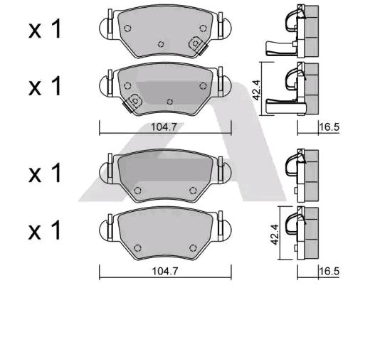 Bremsbelagsatz Scheibenbremse AISIN BPOP-2005