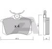 Komplet zavornih oblog, ploscne (kolutne) zavore BPPE-2001 - trenutni popusti na OE 1H0698451H vrhunskih rezervnih delih