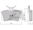 Bremsbelagsatz, Scheibenbremse BPPE-2002 — aktuelle Top OE 1J0698451E Ersatzteile-Angebote