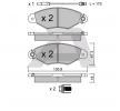 Bremsbelagsatz, Scheibenbremse BPRE-1007 — aktuelle Top OE 7701 209 117 Ersatzteile-Angebote