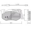 Bremsbelagsatz, Scheibenbremse BPRE-1008 — aktuelle Top OE 77 01 202 227 Ersatzteile-Angebote