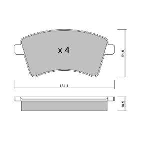BPRE-1014 AISIN nicht für Verschleißwarnanzeiger vorbereitet Höhe: 61,9mm, Breite: 131,1mm, Dicke/Stärke: 18,5mm Bremsbelagsatz, Scheibenbremse BPRE-1014 günstig kaufen