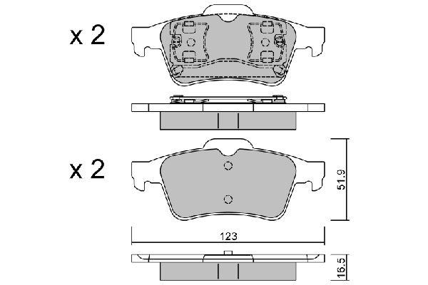 BPRE2003 Bremsbeläge AISIN 23483 - Große Auswahl - stark reduziert