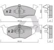 Sada brzdových destiček, kotoučová brzda BPVW-1018 — současné slevy na OE JZW698151E náhradní díly top kvality