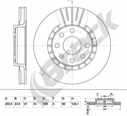 Bremsscheiben BRECK BR 305 VA100