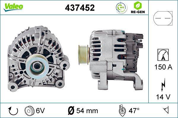 Αγοράστε TG15C012 VALEO REMANUFACTURED PREMIUM 14V, 150Α, με ενσωμ. ρυθμιστή Πλήθος ραβδώσεων: 6 Γεννήτρια 437452 Σε χαμηλή τιμή