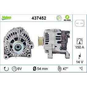 TG15C012 VALEO REMANUFACTURED PREMIUM 14V, 150A, mit integriertem Regler Rippenanzahl: 6 Generator 437452 günstig kaufen