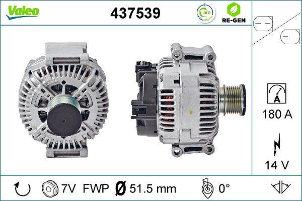 VALEO: Original Lichtmaschine 437539 (Rippenanzahl: 7)