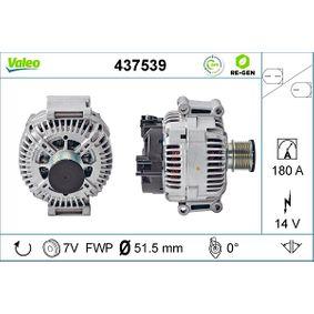 TG17C028 VALEO REMANUFACTURED PREMIUM 14V, 180A, mit integriertem Regler Rippenanzahl: 7 Generator 437539 günstig kaufen