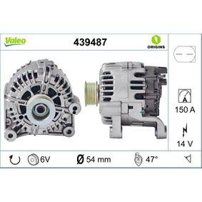 TG15C012 VALEO NEW ORIGINAL PART 14V, 150A, mit integriertem Regler Rippenanzahl: 6 Generator 439487 günstig kaufen