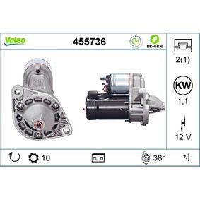 D6RA82 VALEO REMANUFACTURED PREMIUM 12V, Zähnez.: 10, 1,1kW Starter 455736 günstig kaufen