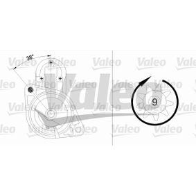 455736 Starter VALEO in Original Qualität