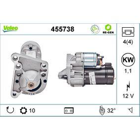 D6RA73 VALEO REMANUFACTURED PREMIUM 12V, Zähnez.: 10, 1,1kW Starter 455738 günstig kaufen