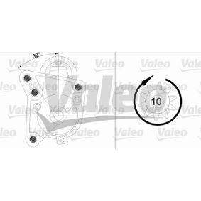 455738 Starter VALEO in Original Qualität