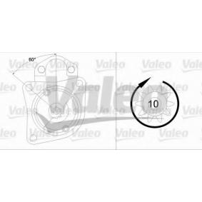 455839 VALEO 12V, Zähnez.: 10, 0,9kW Starter 455839 günstig kaufen