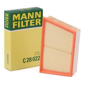 C 28 022 MANN-FILTER Länge: 169mm, Breite: 216mm, Breite 1: 275mm, Höhe: 56mm Luftfilter C 28 022 günstig kaufen