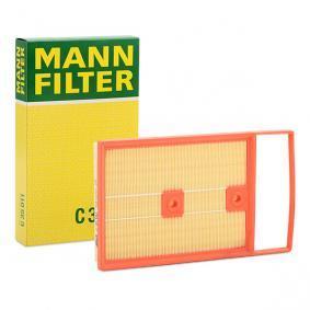 C 35 011 MANN-FILTER Länge: 350mm, Breite: 206mm, Höhe: 47mm Luftfilter C 35 011 günstig kaufen