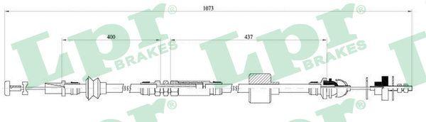LPR Seilzug, Kupplungsbetätigung C0455C