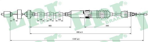 Original RENAULT Kupplungsseilzug C0471C