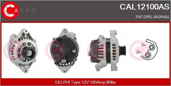 Αγοράστε CAL12100AS CASCO 12V, 100Α, με ενσωμ. ρυθμιστή Πλήθος ραβδώσεων: 6 Γεννήτρια CAL12100AS Σε χαμηλή τιμή