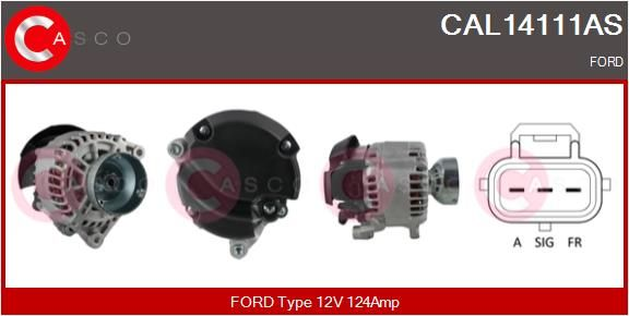 Αγοράστε CAL14111AS CASCO 12V, 124Α, με ενσωμ. ρυθμιστή Γεννήτρια CAL14111AS Σε χαμηλή τιμή