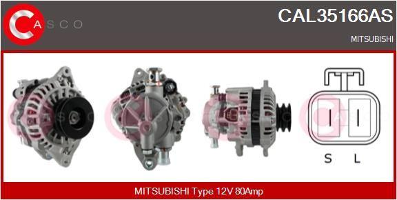 Αγοράστε CAL35166AS CASCO 12V, 80Α, με ενσωμ. ρυθμιστή Γεννήτρια CAL35166AS Σε χαμηλή τιμή