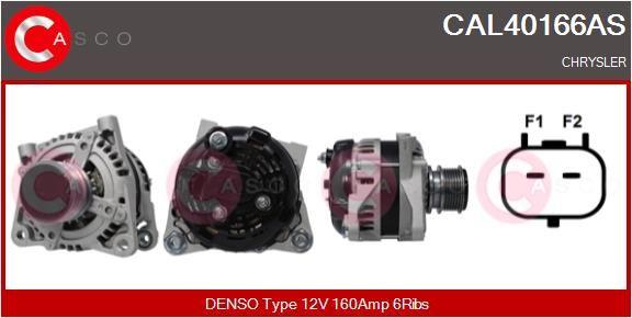 Αγοράστε CAL40166AS CASCO 12V, 160Α, με ενσωμ. ρυθμιστή Πλήθος ραβδώσεων: 6 Γεννήτρια CAL40166AS Σε χαμηλή τιμή
