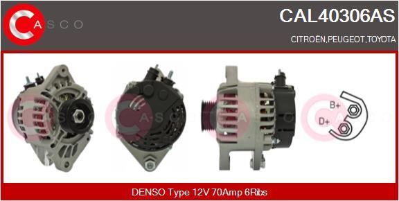 Αγοράστε CAL40306AS CASCO 12V, 70Α, με ενσωμ. ρυθμιστή Πλήθος ραβδώσεων: 6 Γεννήτρια CAL40306AS Σε χαμηλή τιμή