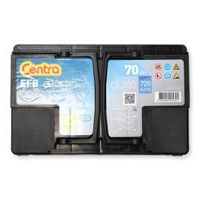 CL700 CENTRA Start-Stop, CENTRA EFB Batterie-Kapazität: 70Ah Kälteprüfstrom EN: 720A, Spannung: 12V, Polanordnung: 0 Starterbatterie CL700 günstig kaufen