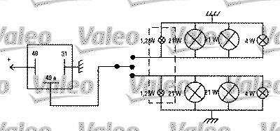 Pieces detachees VOLKSWAGEN 411/412 1974 : Centrale clignotante VALEO 641422 - Achetez tout de suite!