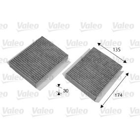698747 VALEO CLIMFILTER PROTECT Charcoal Filter Width: 135mm, Height: 30mm, Length: 174mm Filter, interior air 698747 cheap