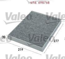 698768 Pollenfilter VALEO - Markenprodukte billig