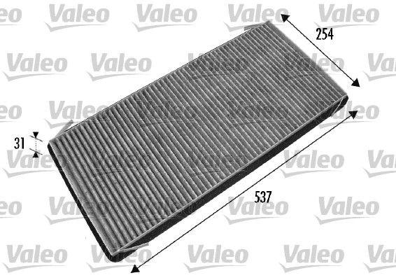 698776 VALEO CLIMFILTER PROTECT Aktivkohlefilter Breite: 254mm, Höhe: 31mm, Länge: 537mm Filter, Innenraumluft 698776 günstig kaufen