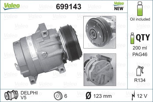 Kompressor, Klimaanlage VALEO 699143 Bewertungen