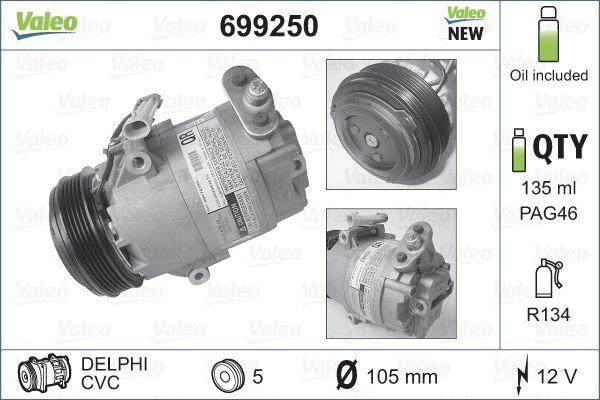 Original OPEL Kompressor Klimaanlage 699250