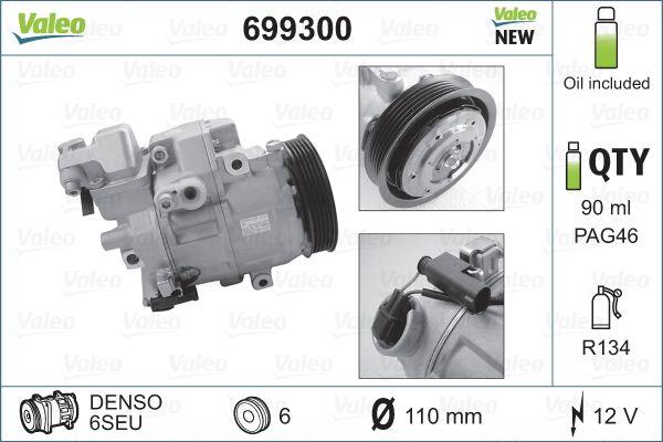 Original MERCEDES-BENZ Kompressor Klimaanlage 699300