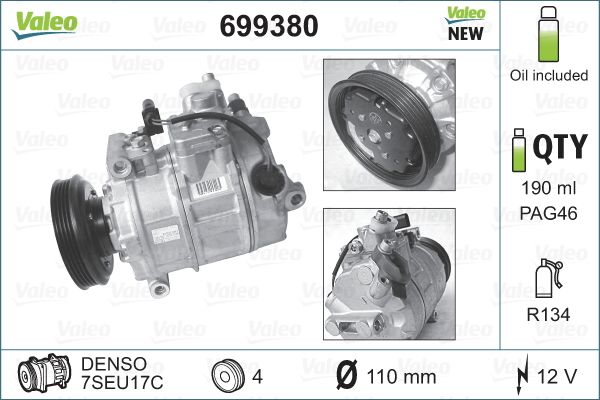 Original AUDI Kompressor Klimaanlage 699380