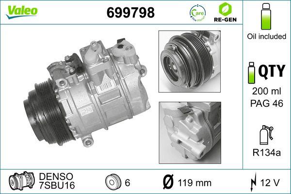 VALEO Klimakompressor 699798