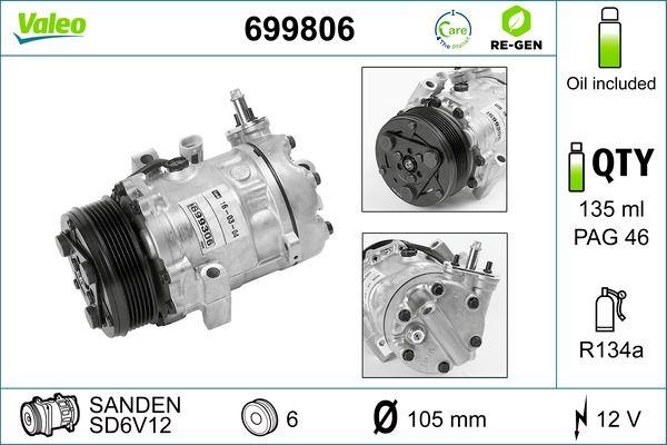 Kompressor VALEO 699806