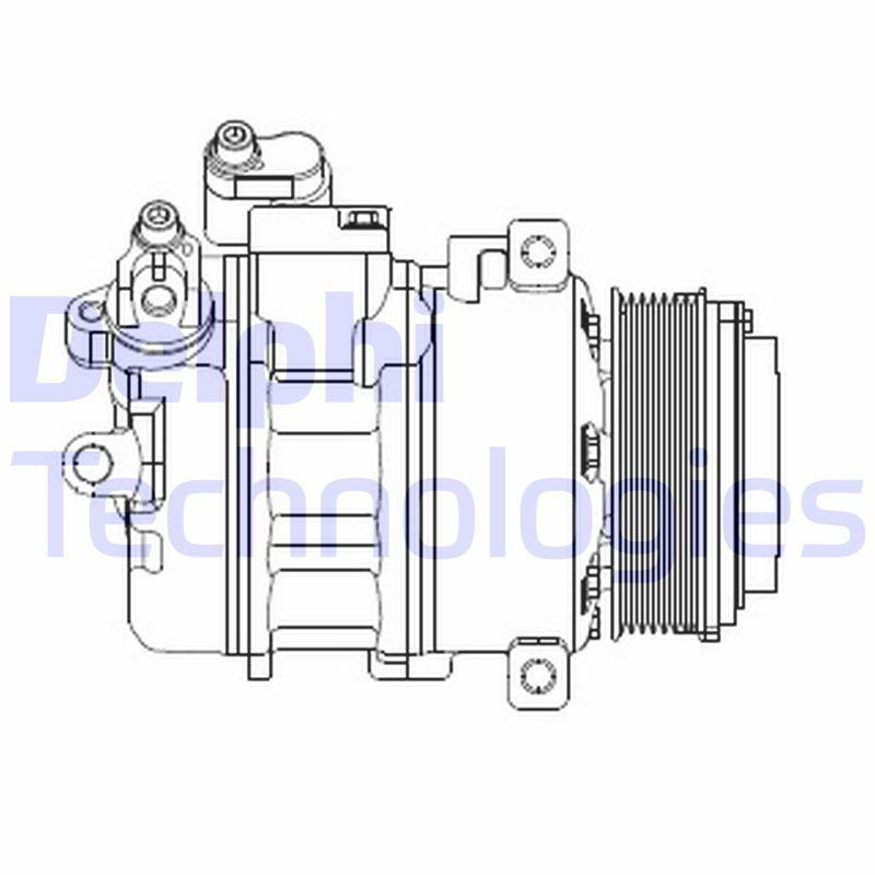 Kompressor Klimaanlage DELPHI CS20370