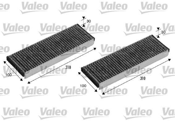 AUDI R8 2018 Klimafilter - Original VALEO 715501 Breite: 100mm, Höhe: 30mm, Länge: 310mm