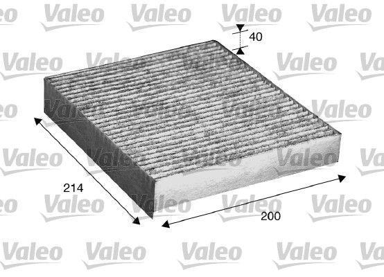 Vesz 715533 VALEO CLIMFILTER PROTECT aktívszén szűrő Szélesség: 200mm, Magasság: 40mm, Hossz: 214mm Szűrő, utastér levegő 715533 alacsony áron