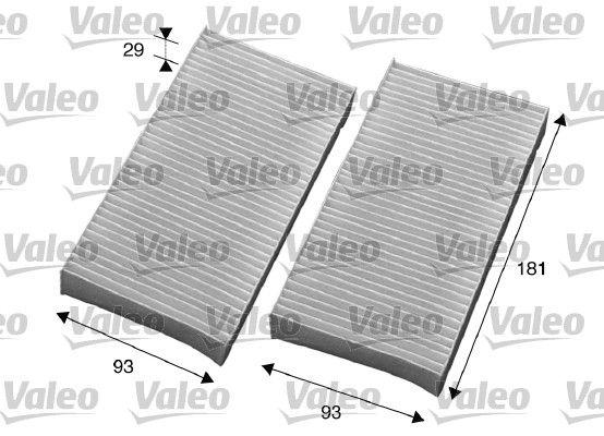 715594 VALEO CLIMFILTER COMFORT Pollenfilter Breite: 93mm, Höhe: 29mm, Länge: 181mm Filter, Innenraumluft 715594 günstig kaufen